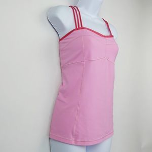 ALO Yoga Tops - Alo Yoga Strappy Criss Cross Back Tank Top Pink M